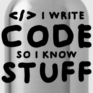 Programmers know stuff T-Shirts - Water Bottle