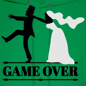 game over bride and groom T-Shirts - Men's Hoodie