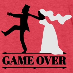 game over bride and groom Tanks - Fitted Cotton/Poly T-Shirt by Next Level