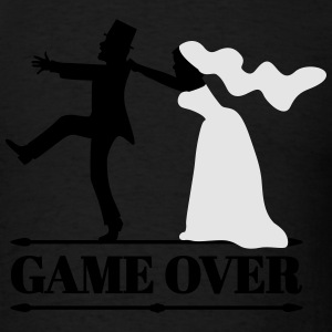 game over bride and groom Long Sleeve Shirts - Men's T-Shirt