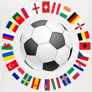 2016 Soccer ball around with flags Kids' Shirts - Toddler Premium T-Shirt