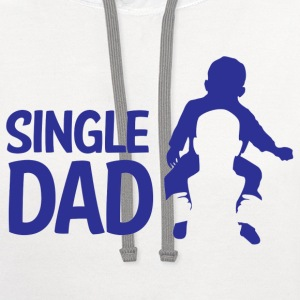 Single Dad - Contrast Hoodie