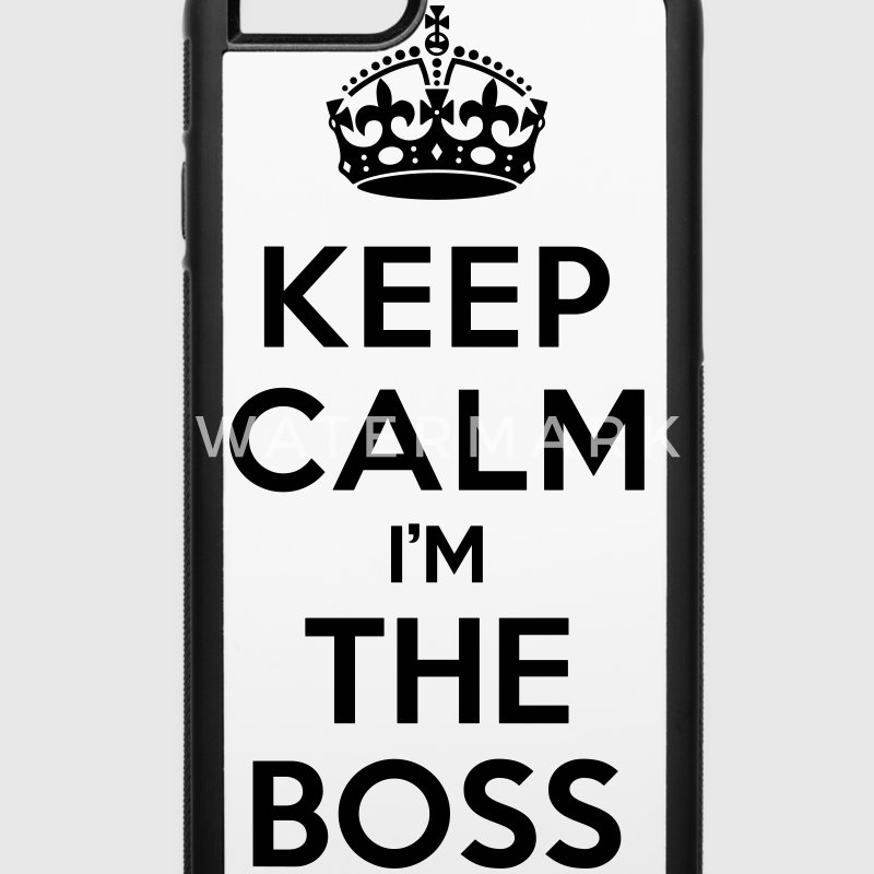 Keep calm i'm the BOSS Accessories - iPhone 6/6s Rubber Case