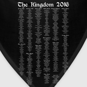The Kingdom 2016 Official - List Only - White Text - Bandana