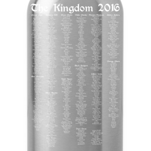 The Kingdom 2016 Official - List Only - White Text - Water Bottle