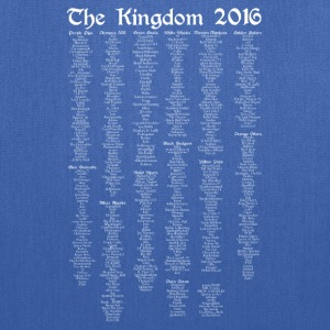 The Kingdom 2016 Official - List Only - White Text - Tote Bag