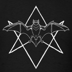 Bat with Hexagram Tanks - Men's T-Shirt