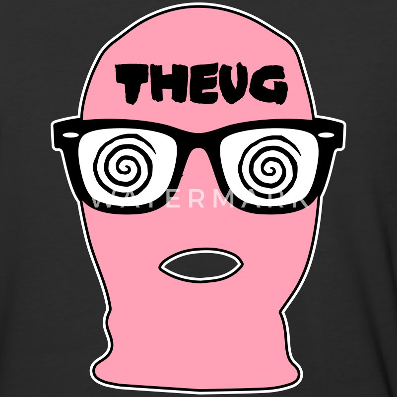 THEUG - The Urban Geek Pink Ski Mask - Baseball T-Shirt