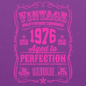Vintage 1976 Aged to Perfection 40th Birthday - Tote Bag