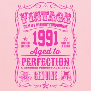 Vintage 1991 Aged to Perfection 25th Birthday Women's T-Shirts - Kids' Hoodie