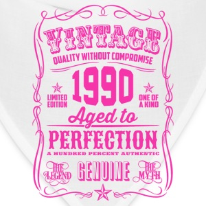 Vintage 1990 Aged to Perfection 26th Birthday Women's T-Shirts - Bandana