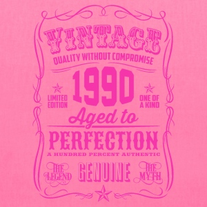 Vintage 1990 Aged to Perfection 26th Birthday Women's T-Shirts - Tote Bag