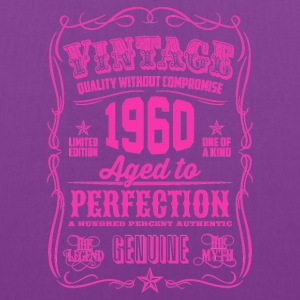 Vintage 1960 Aged to Perfection 56th Birthday - Tote Bag
