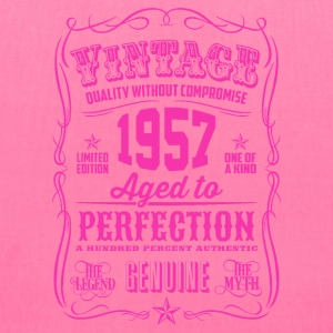 Vintage 1957 Aged to Perfection 59th Birthday - Tote Bag