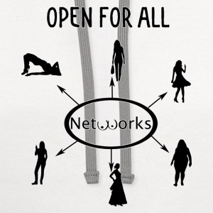 Open for all networks 1 - Contrast Hoodie