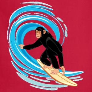 Monkey surfing big tube wave - Adjustable Apron