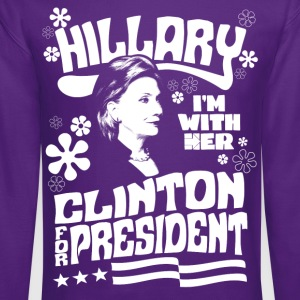 Hillary Clinton I'M WITH HER t shirt - Crewneck Sweatshirt