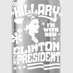 Hillary Clinton I'M WITH HER t shirt - Water Bottle