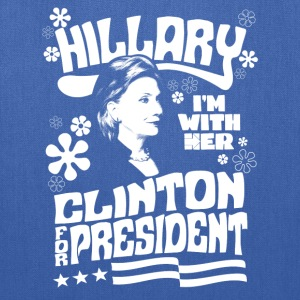 Hillary Clinton I'M WITH HER t shirt - Tote Bag