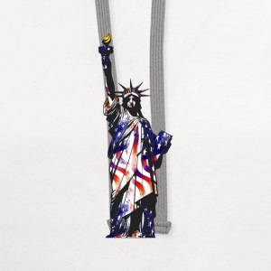 Statue Of Liberty American USA National Flag Indep - Contrast Hoodie
