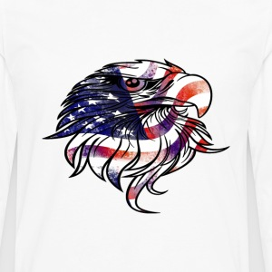 American USA National Flag Eagle Independence Day  - Men's Premium Long Sleeve T-Shirt