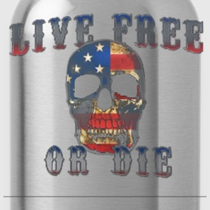Live Free or Die Biker T-Shirt - Water Bottle