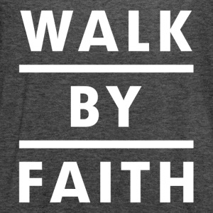 Walk By Faith Religious Christian Women's T-Shirts - Women's Flowy Tank Top by Bella