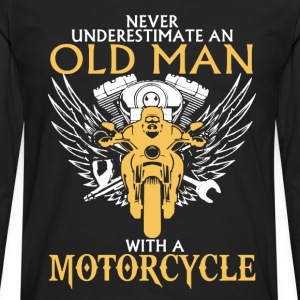 Old Man With Motorcycle - Men's Premium Long Sleeve T-Shirt