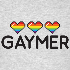 Gaymer Rainbow Hearts LGBT Pride Tanks - Men's T-Shirt