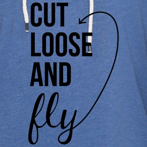 Cut Loose and Fly Tanks - Unisex Lightweight Terry Hoodie