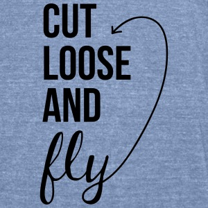 Cut Loose and Fly Tanks - Unisex Tri-Blend T-Shirt by American Apparel