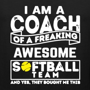 Proud Softball Coach - Men's Premium Tank