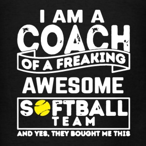 Proud Softball Coach - Men's T-Shirt