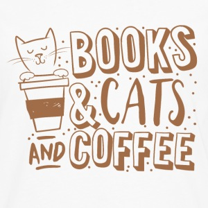 books cats and coffee  Women's T-Shirts - Men's Premium Long Sleeve T-Shirt