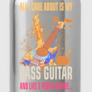 Bass Guitar - I care about - Water Bottle