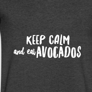 KeepCalmAvocados Long Sleeve Shirts - Men's V-Neck T-Shirt by Canvas