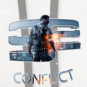 CONFLICT BF4 LOGO  Kids' Shirts - Contrast Hoodie