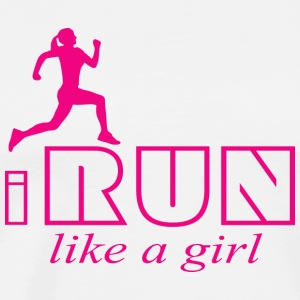 I run like a girl Tanks - Men's Premium T-Shirt
