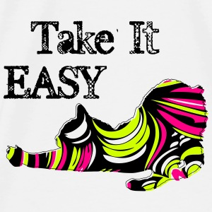 Take it Easy Pop Cat  Mouse Pad - Men's Premium T-Shirt