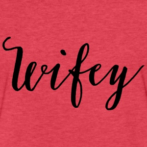 Wifey, Bachelorette Party Tank Top, Bridal Tanks - Fitted Cotton/Poly T-Shirt by Next Level