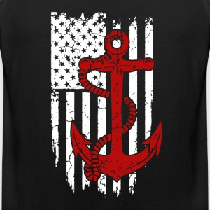 Navy Flag Shirt - Men's Premium Tank