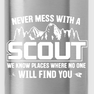 Never Mess With A Scout - Water Bottle