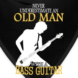 Old Man With Bass Guitar - Bandana