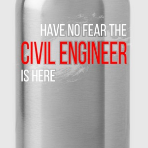 Civil Engineer - no Fear - Water Bottle