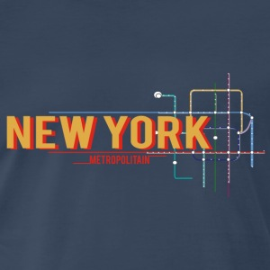 newyork-metro-plan Tanks - Men's Premium T-Shirt