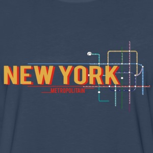 newyork-metro-plan Tanks - Men's Premium Long Sleeve T-Shirt