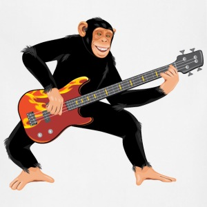 Monkey with electric bass guitar - Adjustable Apron
