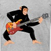 Monkey with electric bass guitar - Men's T-Shirt by American Apparel
