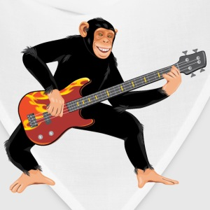 Monkey with electric bass guitar - Bandana