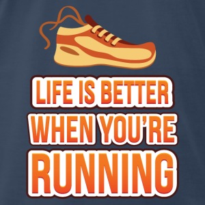 Life is better running Tanks - Men's Premium T-Shirt